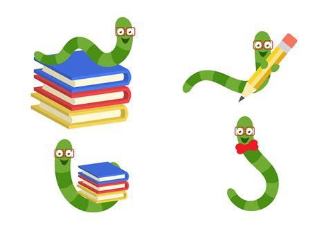 bookworm template bookworm vectors free vector stock