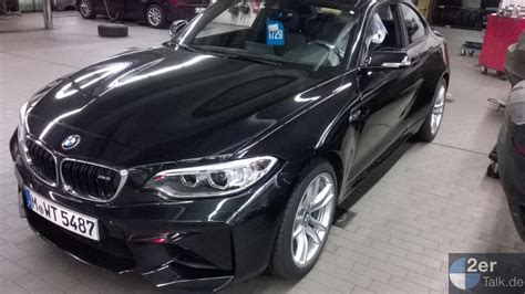 Black Sapphire 1 bmw m2 spotted in mineral grey and sapphire black