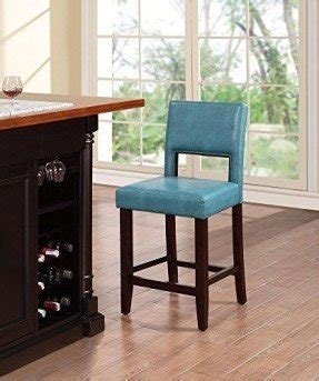 Linon Counter Stool Aegean Blue by Stainless Steel Pub Table Foter
