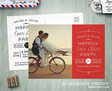 Thomson Wedding Brochure By Post by Printable Post Wedding Photo Postcard Invitation Happily