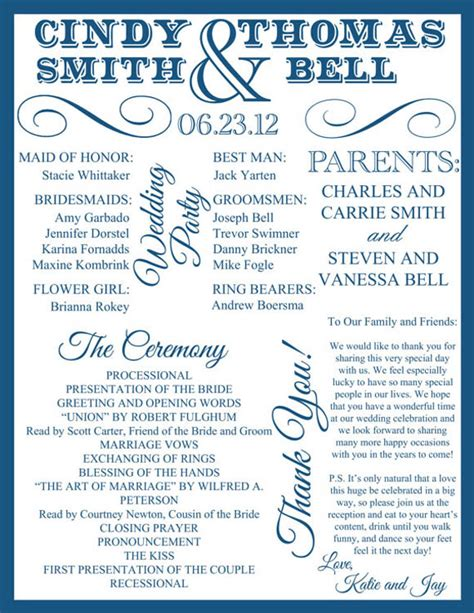 wedding ceremony program ideas 30 wedding program design ideas to guide your guest
