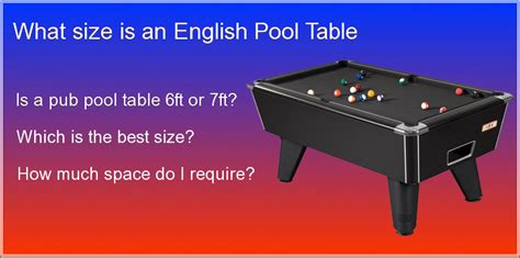 uk pool table size