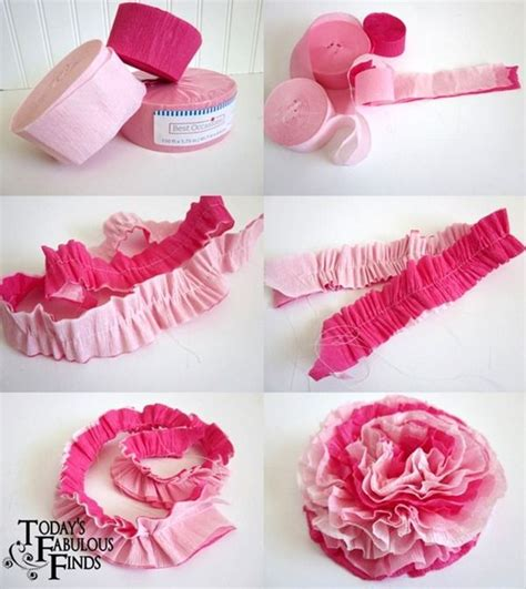 paper flower corsage tutorial diy ruffled crepe paper flowers tutorial from today s