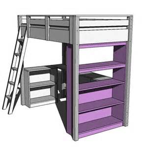 Under Desk Bookcase Ana White What Goes Under The Loft Bed How About A Big