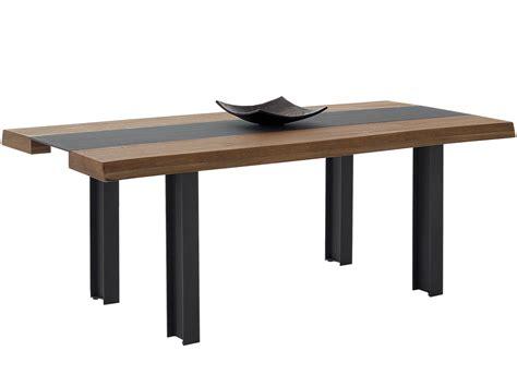 mesa comedor en roble marinado  metal  patas p  metal