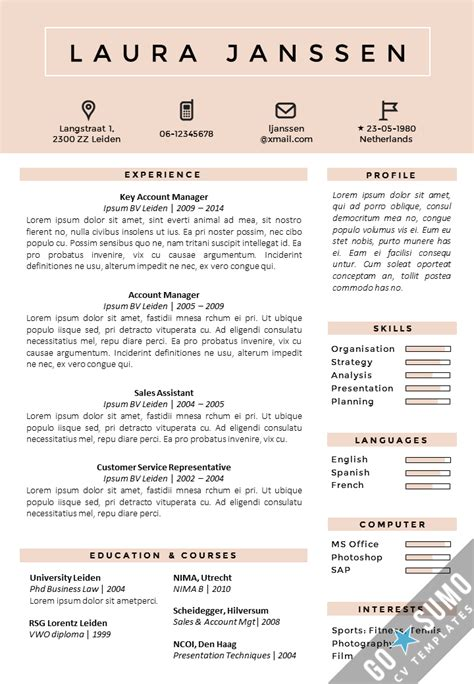 matching cover letter and resume templates resume template in word matching cover letter template 2 color versions in 1 https gosumo