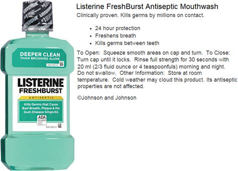 Mouthwash 500ml 16 9oz turner drugs mouthwashes rinses