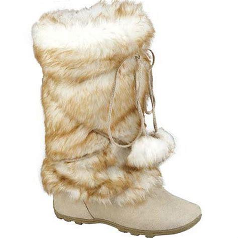 fur boots tara eskimo suede mid calf fur boots