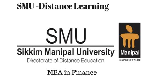 Courses Of Mba In Finance by Smu Distance Learning Mba In Finance Course Distance