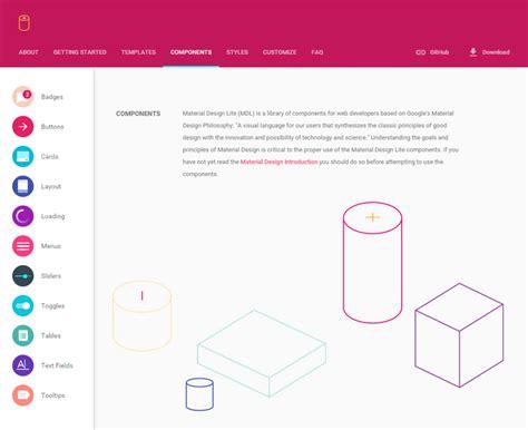 material design lite calendar material design lite web resources webappers