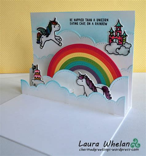 Unicorn Pop Up Card Template by Unicorns Cake Pop Up Card Silviallanes