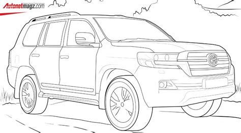 coloring page toyota land cruiser autonetmagz review