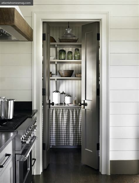 Country Pantry by Pantry With Bi Fold Doors Country Kitchen Atlanta Homes Lifestyles