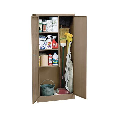 Cleaning Supply Cabinet by Sandusky Welded Steel Janitorial Cabinet 30in W X