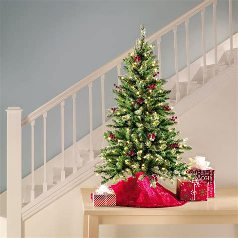 trim a home brilliant tree trim a home 174 4 5 200 clear light newberry pine tree shop your way shopping