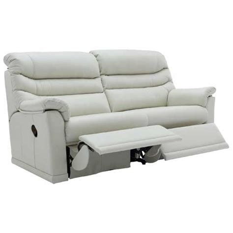 2 Cushion Reclining Sofa by G Plan Malvern Leather 2 Seat Cushion Version