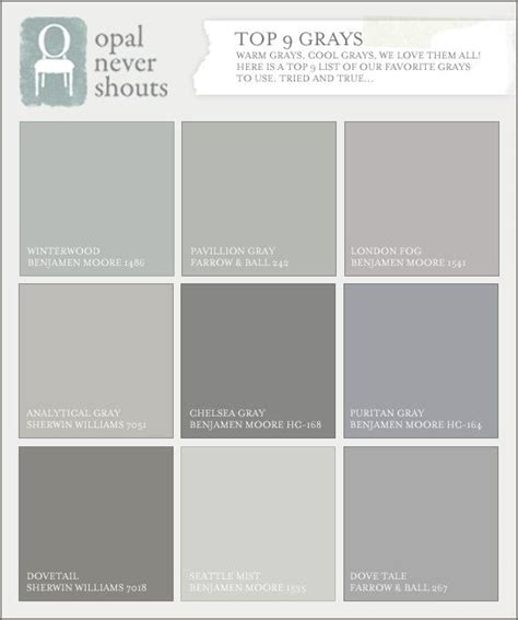 gray paint swatches benjamin moore grays for the home pinterest