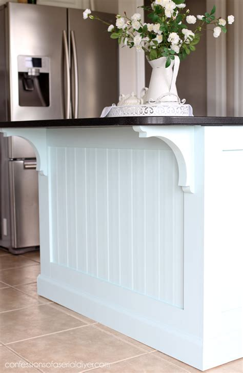 beadboard kitchen island kitchen island makeover with beadboard confessions of a