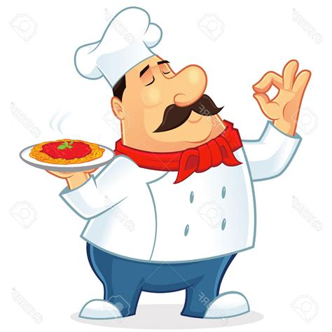 chef clipart best free illustration of an italian chef mascot stock