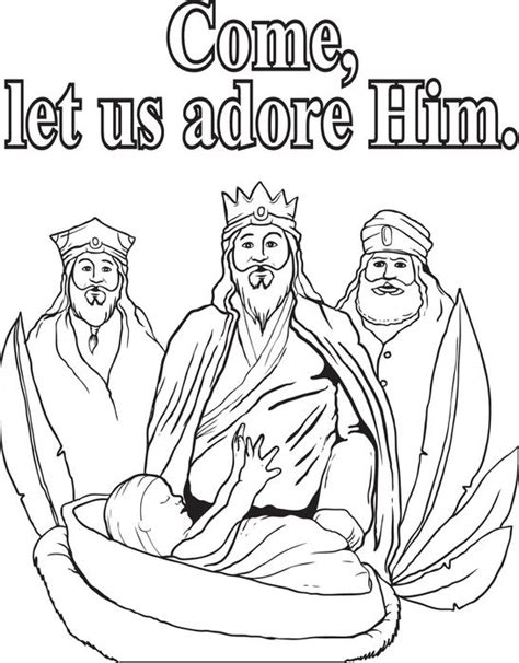 free coloring pages of jesus three wise men