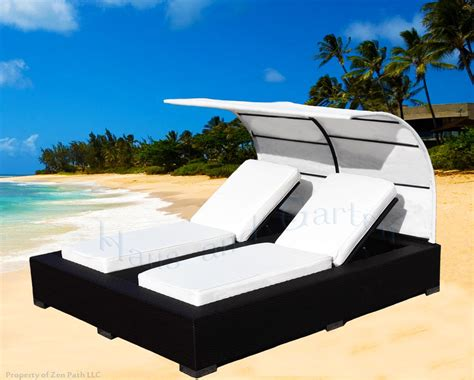 outdoor double chaise lounge with canopy outdoor wicker double chaise lounge patio furniture with