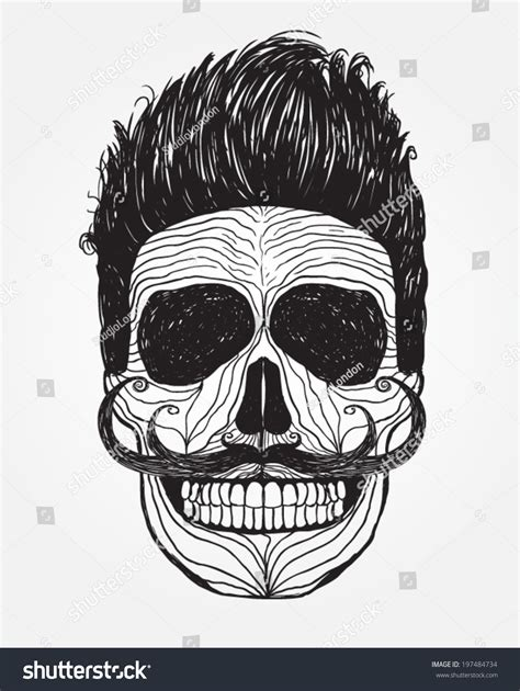Pomade Joker skull illustration danger warning tshirt stock vector