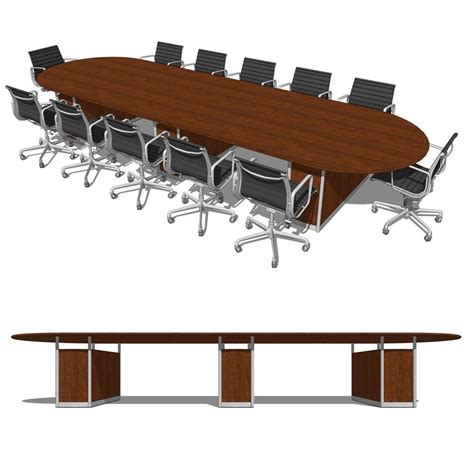 Revit Conference Table Duovo Conference Room 3d Model Formfonts 3d Models Textures