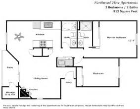 2 bedroom 2 bath floor plans northwood place apartments modesto