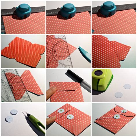 How Do We Make Paper - step by step tutorial coin envelope library pocket