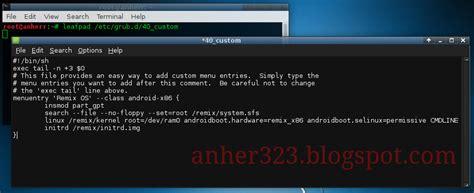 gpt grub format cara install remix os dengan kali linux anherr blog s