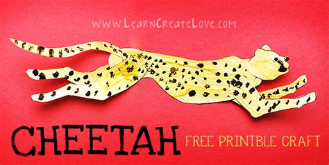 Cheetah Printable Craft