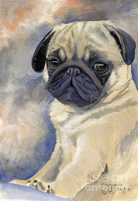 pug paint best 20 pug ideas on