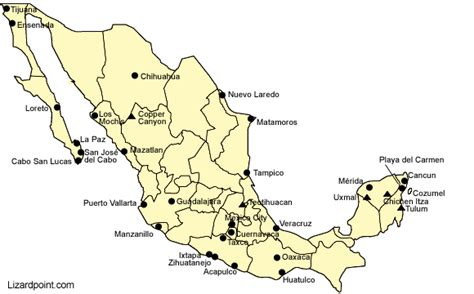 tourist map of mexico test your geography knowledge mexico tourist