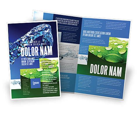 blue water brochure template design and layout download