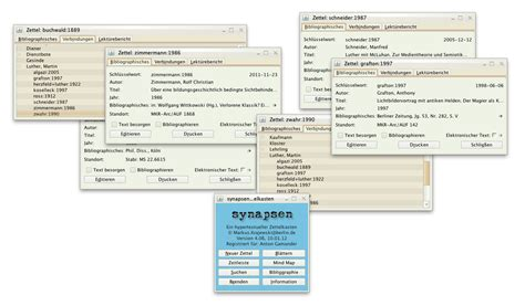 card program synapsen zettelkasten