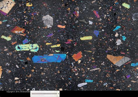 thin section basalt thin section
