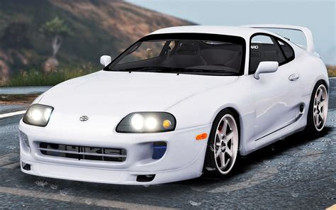 toyota supra toyota supra add on stock tuning gta5 mods com