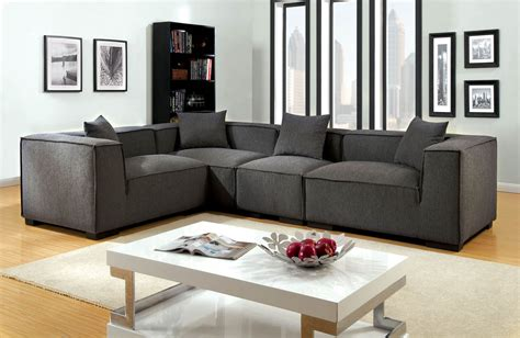 gray modern sofa set 4 pcs sectional sofa