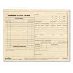 employee records jackets letter size personnel files