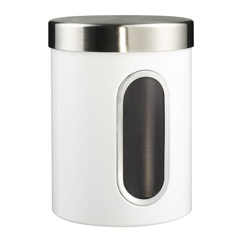 buy wesco kitchen storage canister with window white amara