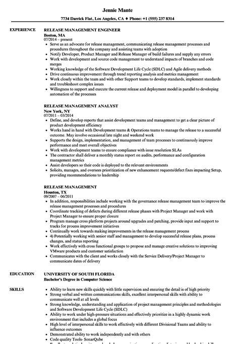 release management resume sles velvet jobs