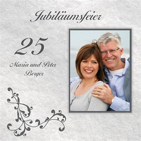 Silberhochzeit Einladungskarten by Silberhochzeit Einladungskarten Galerie Hochzeitsportal24