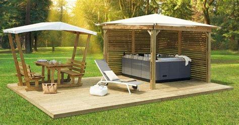 kiosque clairval pergola bois terrasse de mobil home sos cing loisirs