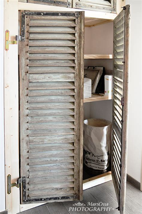 18 Closet Door Makeovers That Ll Give You Closet Envy Shutter Closet Doors