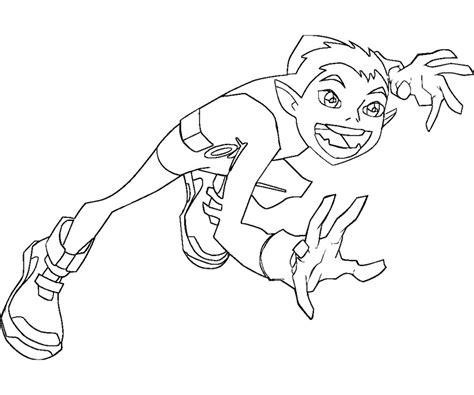 teen titans go beast boy coloring free coloring pages of raven dc comics