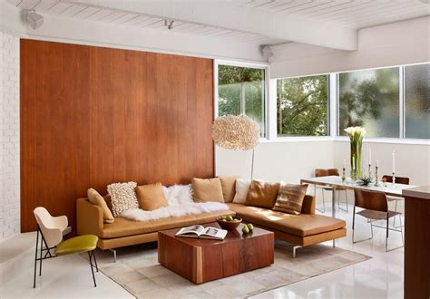 mid century modern living room ideas modern accent wall ideas living room midcentury with wood