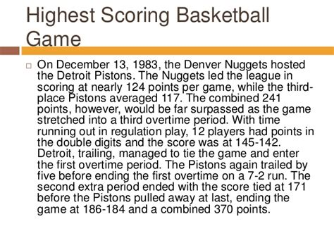 basketball highest score the highest scoring basketball in nba history