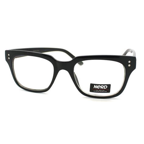 clear lens horned retro eye glasses frame with metal