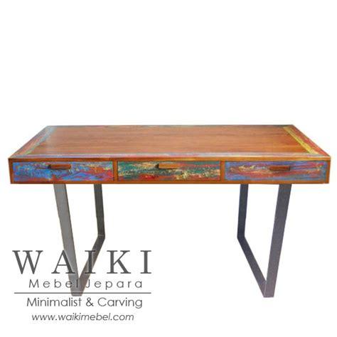 Meja Kerja Metal meja kerja kayu besi rustic rastikan metal wood desk industrial jepara