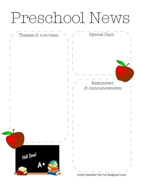 best 25 preschool newsletter templates ideas only on